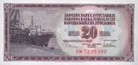 Joegoslavië P88.a 20 Dinara 1978