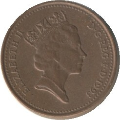 Great Britain KM935a 1 Penny 1992-1997