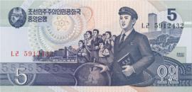 Korea (Noord) B317 P40 5 Won 1998