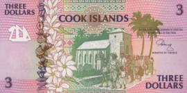 Cook eilanden P7.a 3 Dollar 1992 (No date)