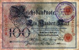 Duitsland P22 Stempel Hoboken 100 Mark 1903