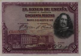Spanje  P75 50 Pesetas 1928