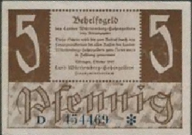 Duitsland Württemberg-Hohenzollern Ros.214.b 5 Pfennig 1947
