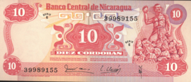 Nicaragua P134 10 Córdobas 1979 (No date)