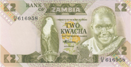 Zambia P24.a 2 Kwacha 1980-1988 (No date)