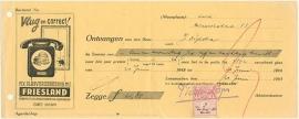 Nederland, Leeuwarden, Verzekeringspolis, Polis en nota, 1943