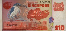 Singapore P11.a 10 Dollar 1979