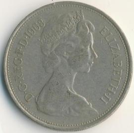 Engeland 10 New Pence 1968 KM#912
