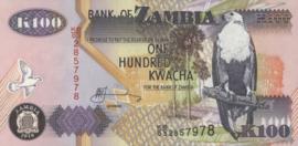 Zambia P38 100 Kwacha 1992-2015