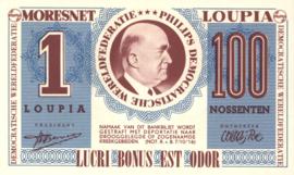 Imitatiegeld: Philips 1 Loupia 100 Nossenten (geen datum, ± 1956)