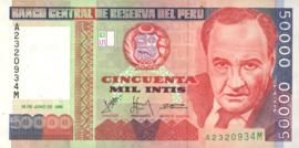 Peru P142 50.000 Intis 1998