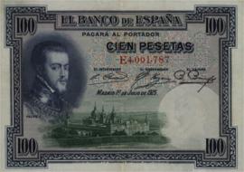 Spanje P69.c 100 Pesetas 1925
