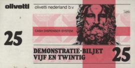 Testgeld  Demonstratie-biljet vijf en twintig 1983