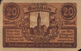 Gera 172.04.b 20 Mark 1919