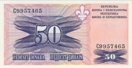 Bosnië-Herzegovina P47 50 dinara 1995 UNC-