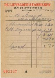 Nederland, Amsterdam, Nota, N.V. de Houttuinen, 1929