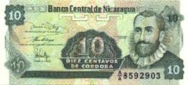 Nicaragua P169 10 Centavos 1991 (No date)