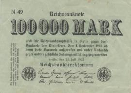 Duitsland P091a 100.000 Mark 1923-07-25 Ros.090.a