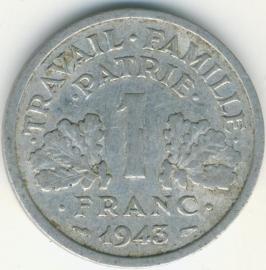 Frankrijk 1 Franc KM902 1943 Vichy
