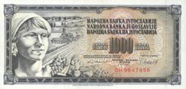 Joegoslavië P92.d 1.000 Dinara 1981