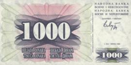 Bosnië-Herzegovina P15.a 1.000 Dinara 1992-07-01