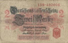 Duitsland P53 2 Mark 1914 Ros.052a
