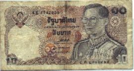 Thailand P87-52 10 Baht 1980