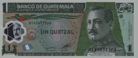 Guatemala P115.c 1 Quetzal 2008-2012