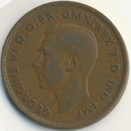 Engeland 1 PENNY 1937 KM# 845