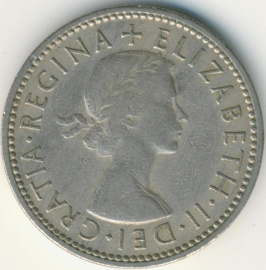 Engeland 1 Shilling 1963 English Arms KM# 904