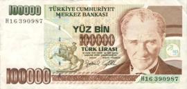 Turkije P205 100.000 Lira 1970