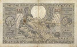 België P107.3 100 Francs / 20 Belgas Model 1933
