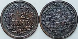 Nederland Sch.1011 1/2 Cent 1916