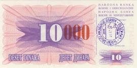 Bosnië-Herzegovina P053d 10.000 Dinara 1993 UNC