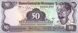 Nicaragua P140 50 Córdobas 1984