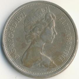 Engeland 5 New Pence 1971 KM#911