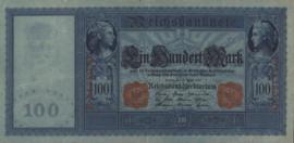Duitsland P42.b Blauw papier 100 Mark 1910