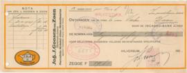 Nederland, Hilversum, Joh. J.Goosen en Zoon, Nota, 1929
