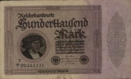 Duitsland Ros.082.b 100.000 Mark 1923-02-01 DEU93.b