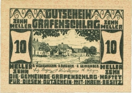 Grafenschlag 10 Heller 31 Dezember 1920 UNC