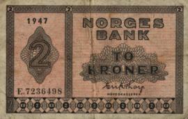 Noorwegen P16.h 2 Kroner 1947