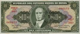 Brazilië P183.b 1 Centavo on 10 Cruzeiros 1967 (No date)