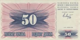 Bosnië-Herzegovina P012.a 50 Dinara 1992