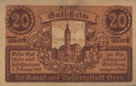 Gera 172.04.a 20 Mark 1919
