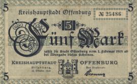Offenburg 397.01 5 Mark 1918
