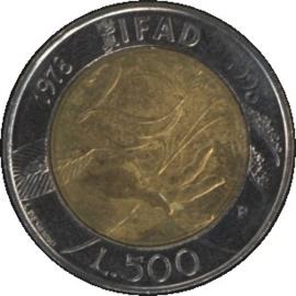 Italië KM193 500 Lire 1998R
