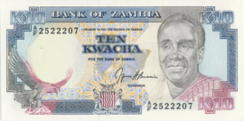 Zambia P31.b 10 Kwacha 1989 (No date)