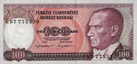 Turkije P194.c 100 Lira 1970
