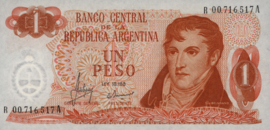 Argentinië P287.a1.R 1 Peso 1970-73 (No date) Replacement