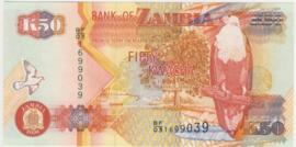 Zambia P37.i 50 Kwacha 1992 (No date)